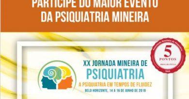 Belo Horizonte recebe maior evento regional de psiquiatria do Brasil