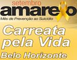 Carreata marca Setembro Amarelo em Belo Horizonte